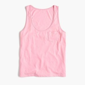 J. Crew Supima Cotton Tank Top Pink Small